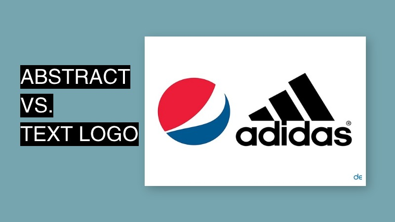 abstract vs text logo design