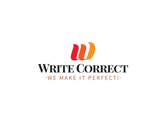 Write Correct logo design