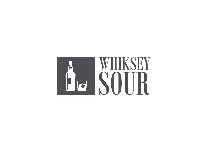 whiksey sour logo design