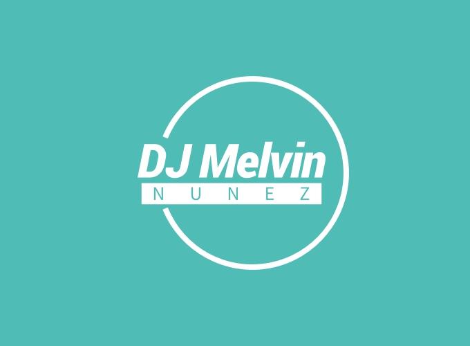DJ Melvin logo design
