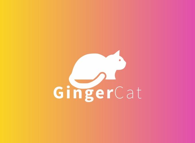 Ginger Cat logo design