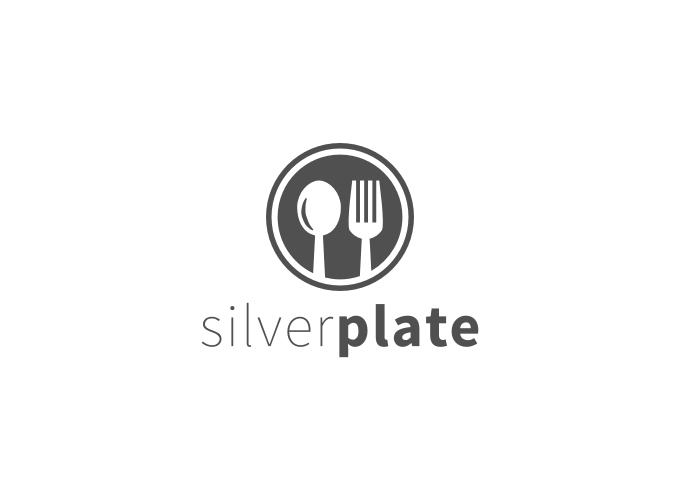 silver plate logo design