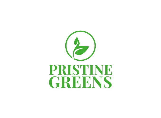 Pristine Greens logo design