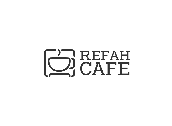 Refah Cafe logo design