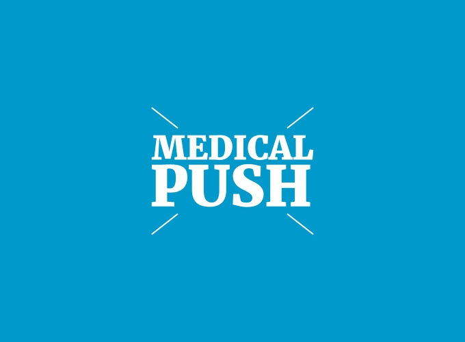 medical push logo design