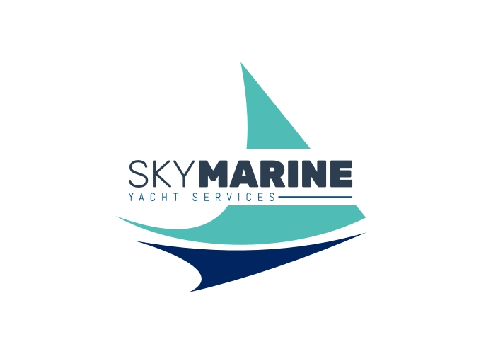 SKY MARINE logo design