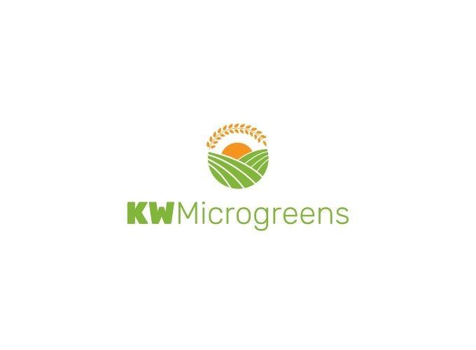 KW Microgreens logo design
