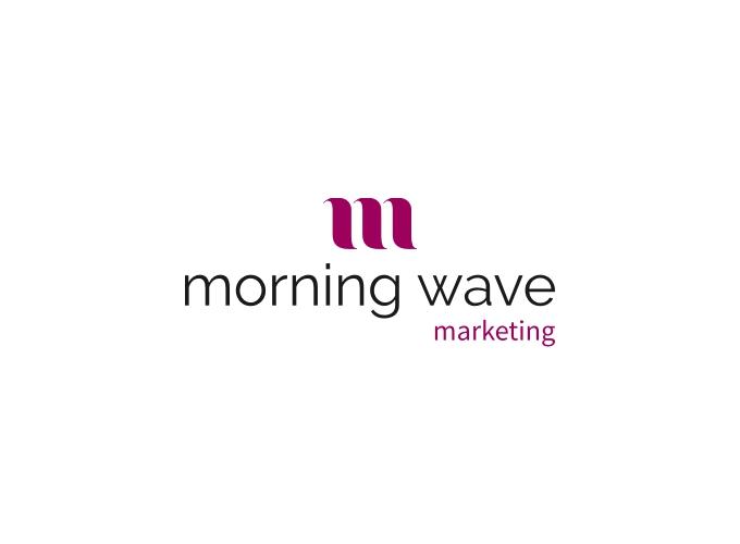 morning wave logo design