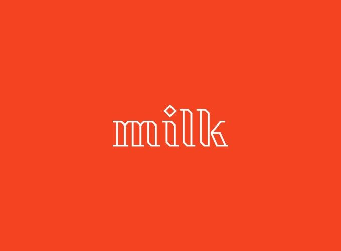 milk logo design