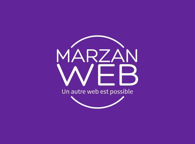 Marzan WEB logo design