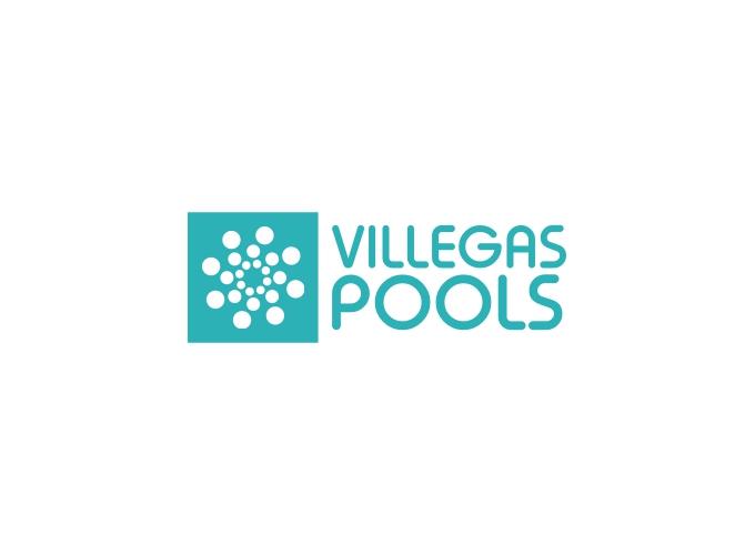 Villegas Pools logo design