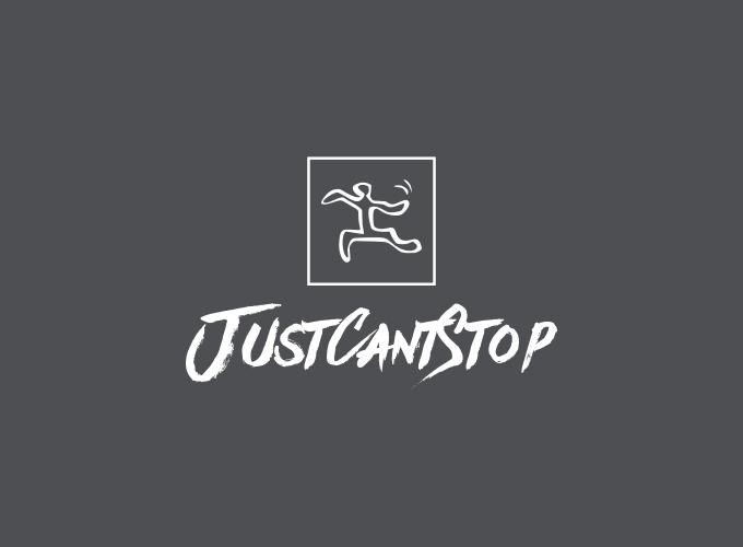 JustCantStop logo design
