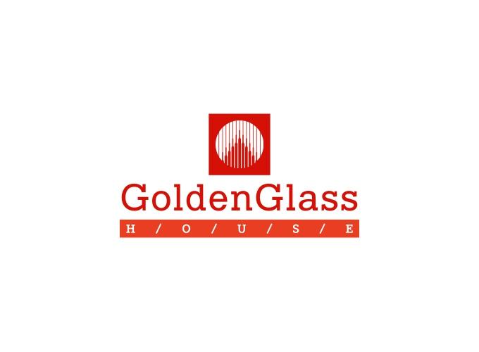 GoldenGlass logo design