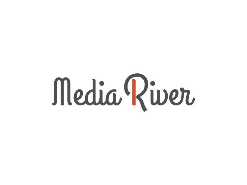 Media River logo design