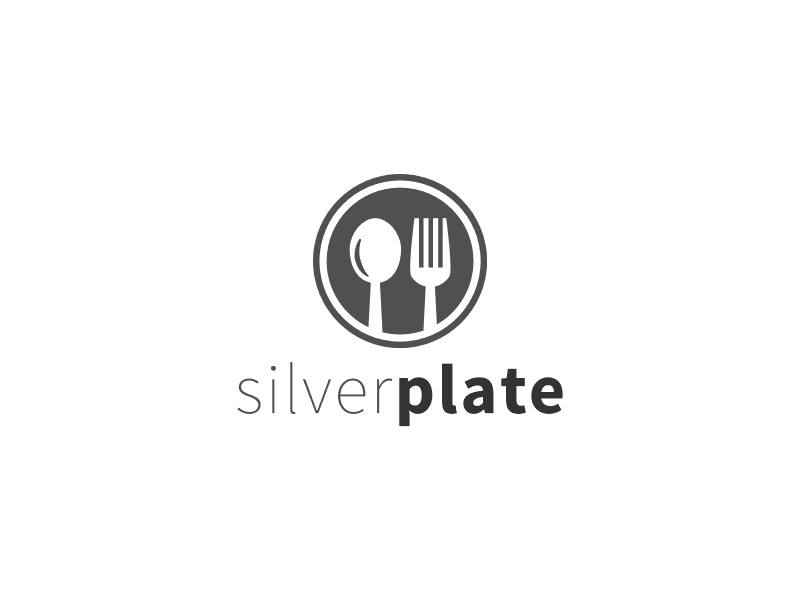 silver plate -