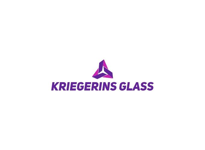 Kriegerins Glass logo design
