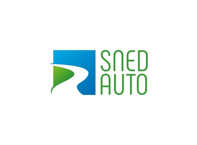 Sned Auto logo design