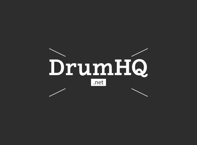 DrumHQ logo design