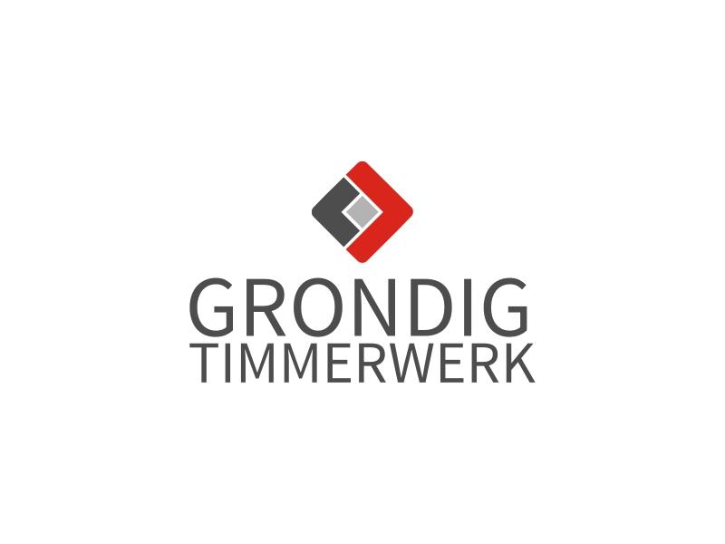 GRONDIG timmerwerk logo design