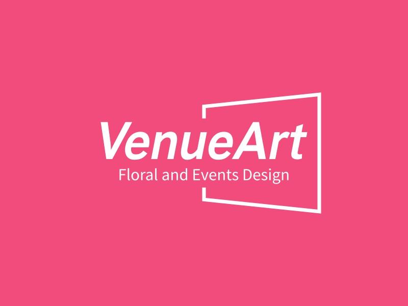 VenueArt logo design