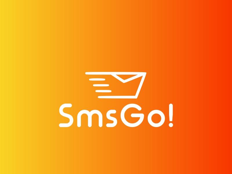 SmsGo! logo design