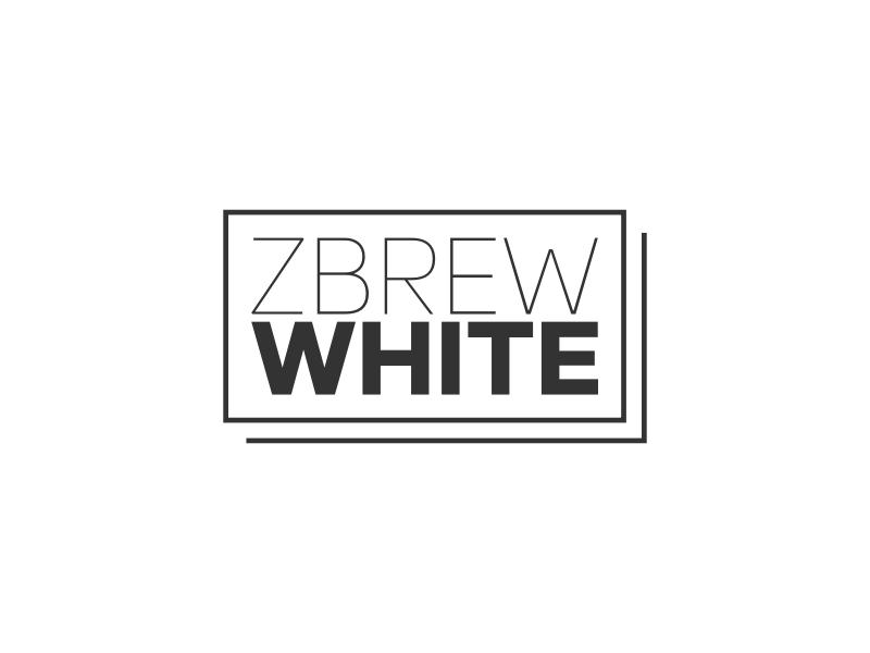 ZBREW WHITE logo design
