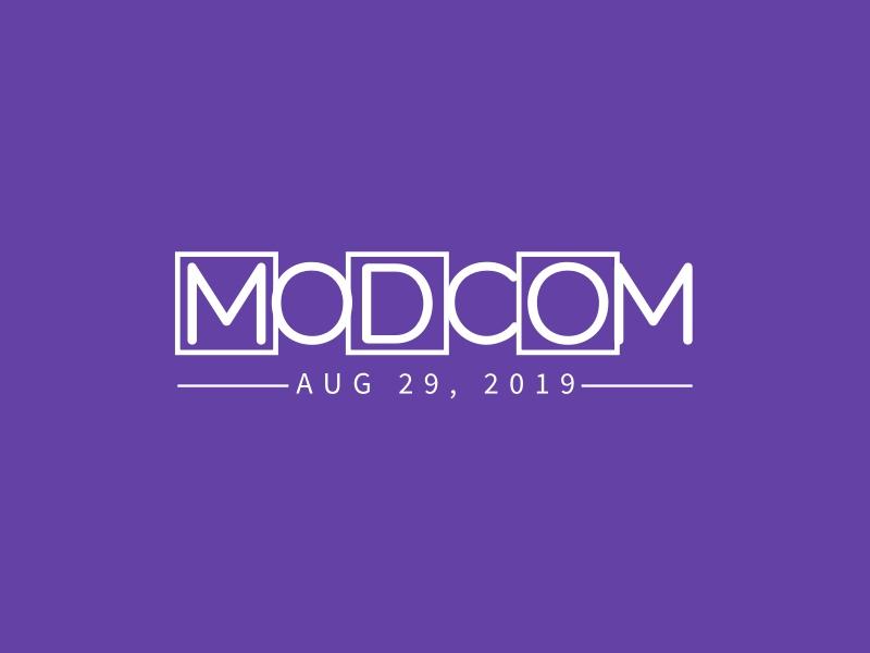 MODCOM logo design