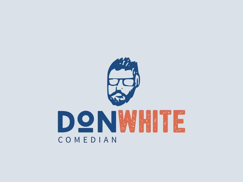 DON WHITE logo design