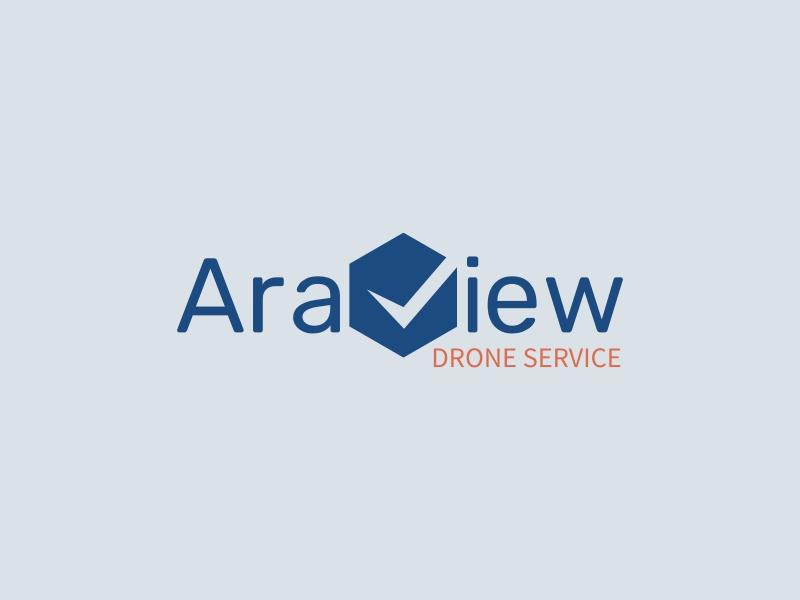 AraView logo design