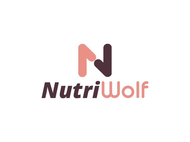 Nutri Wolf logo design