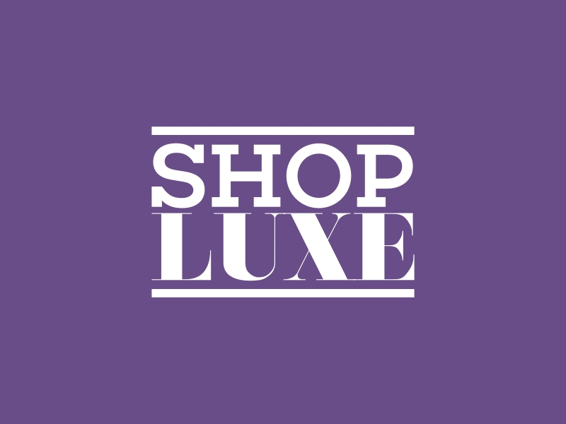 SHOP LUXE logo design