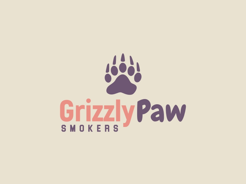 Grizzly Paw logo design