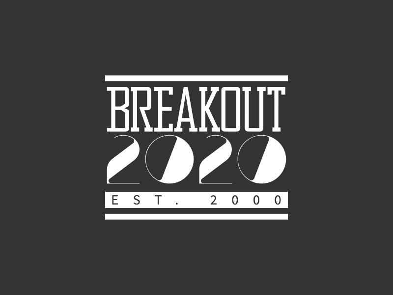 Breakout 2020 logo design