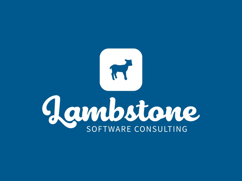 Lambstone logo design