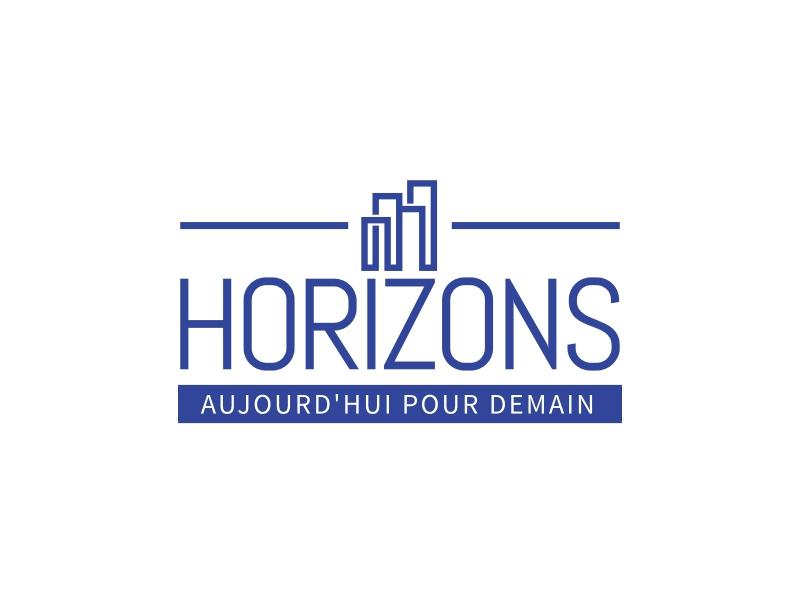 HORIZONS logo design