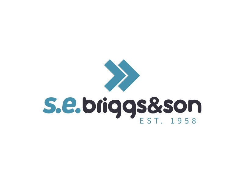 s.e. briggs&son logo design