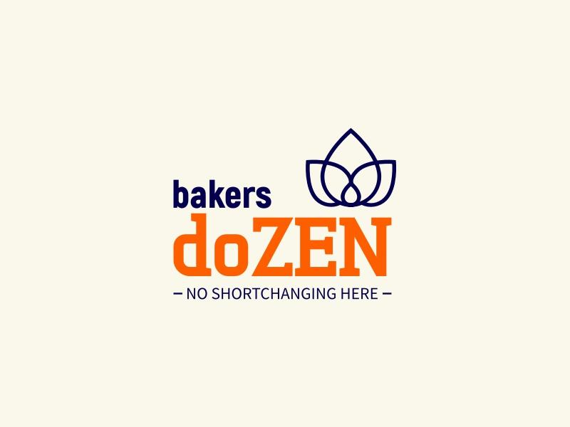 bakers doZEN logo design