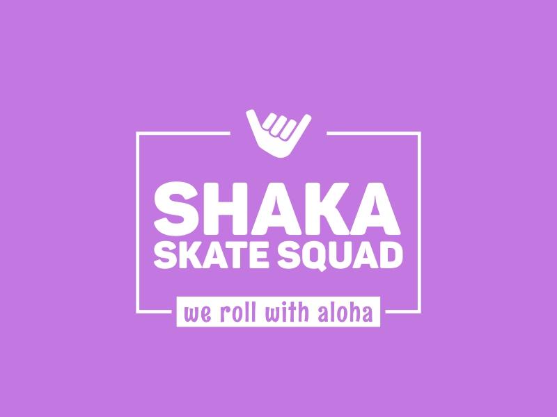 Shaka SKATE SQUAD logo design