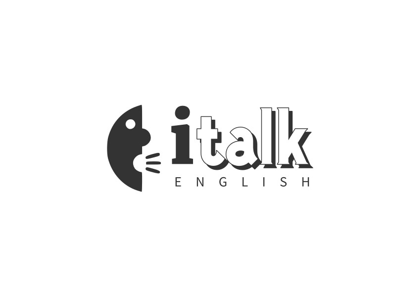i talk logo design