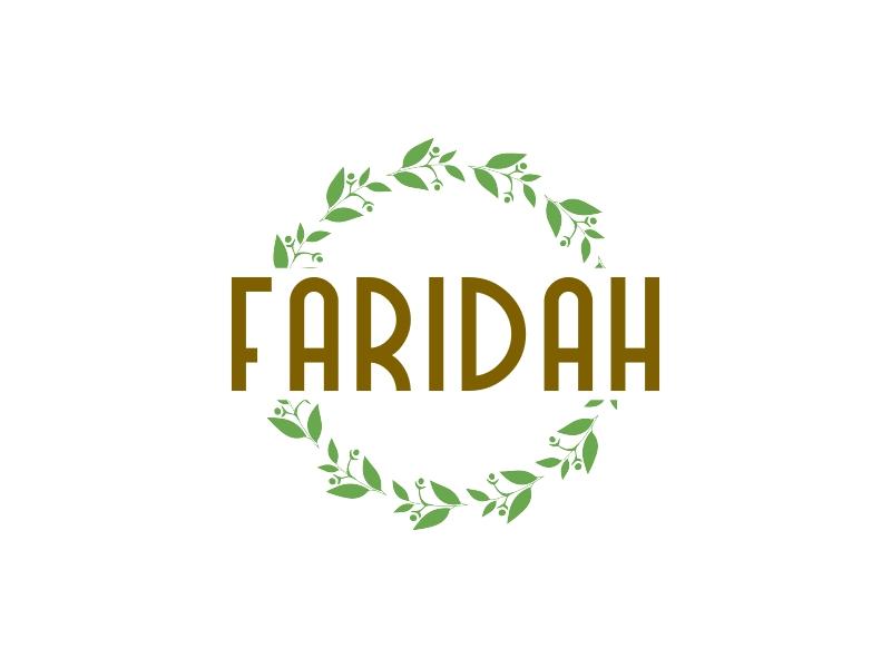 Faridah logo design
