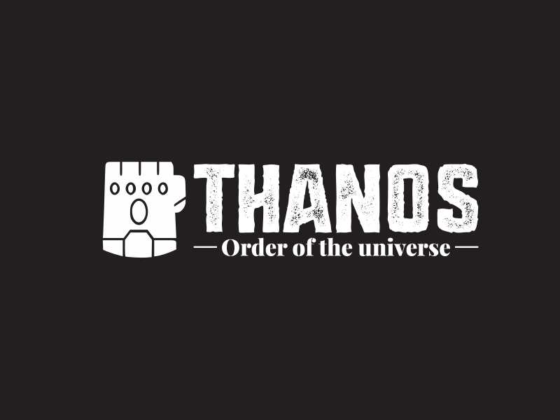 Thanos logo design