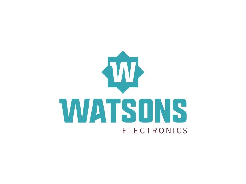 Watsons logo design