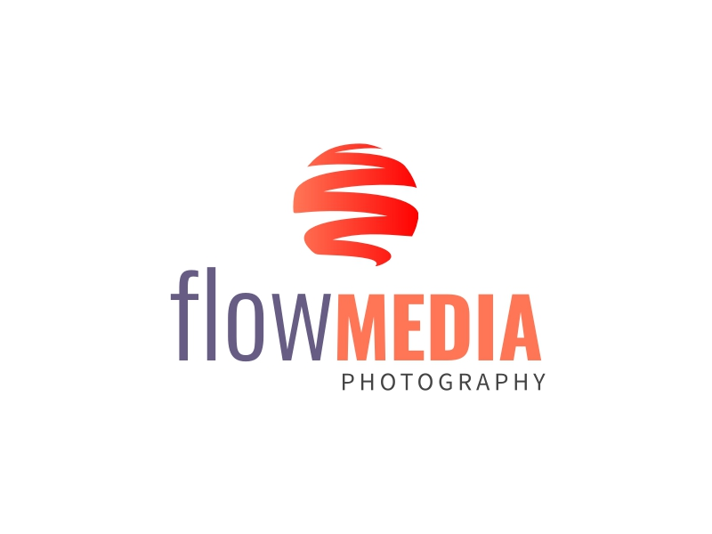 flow MEDIA logo design