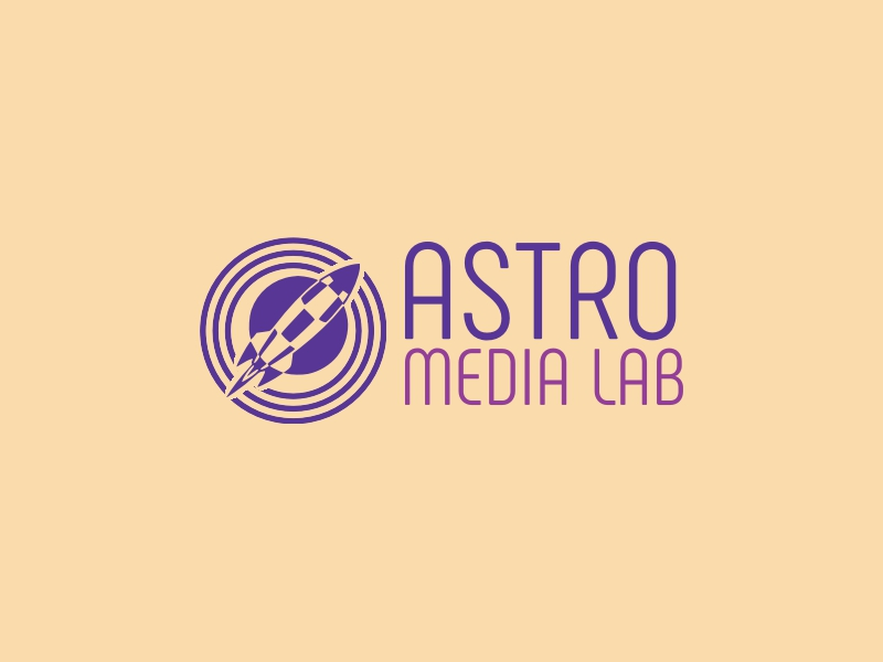 Astro Media Lab logo design