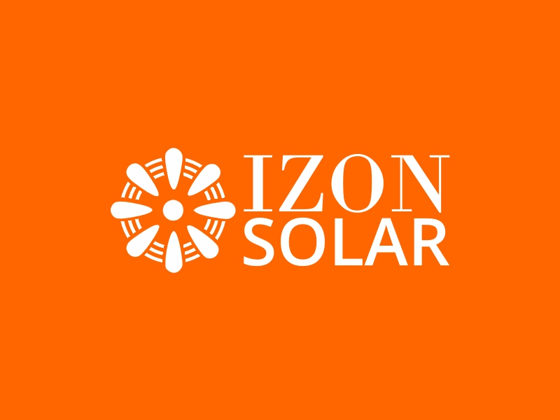 Izon Solar logo design