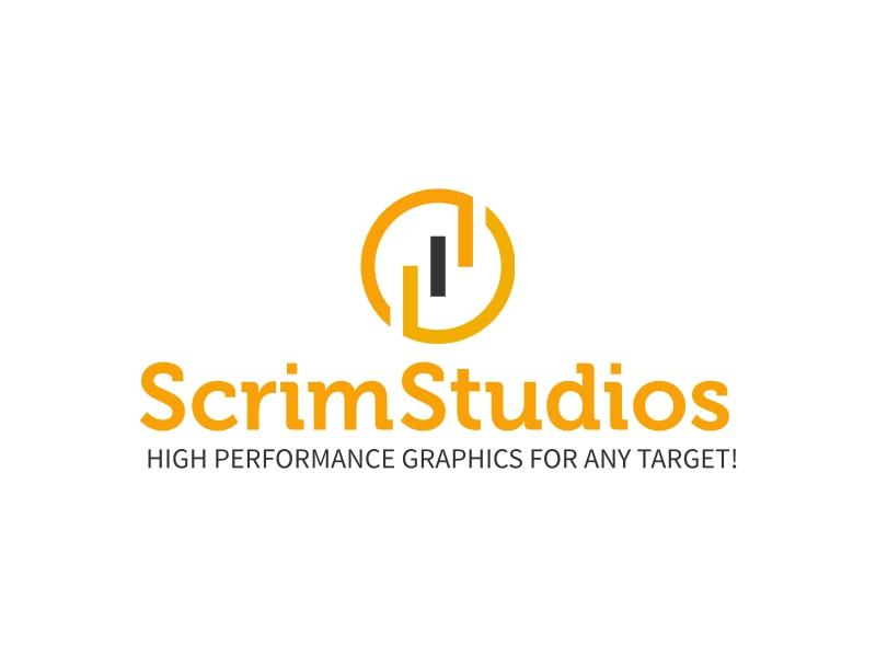 Scrim Studios logo design
