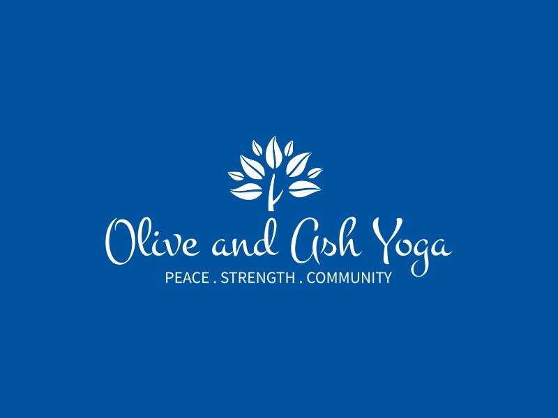 Olive and Ash Yoga logo design