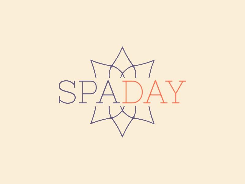 SPA DAY logo design