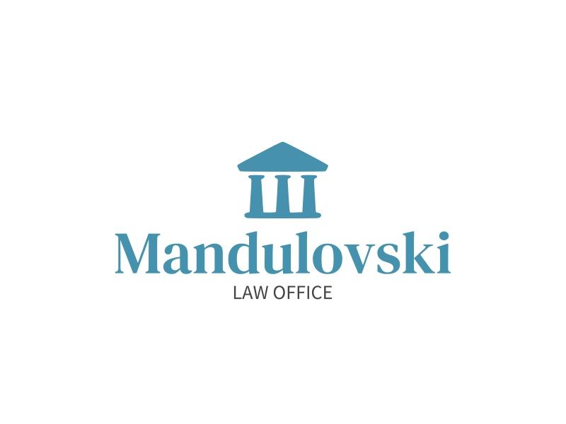 Mandulovski logo design