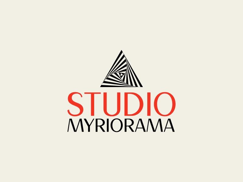 studio myriorama logo design